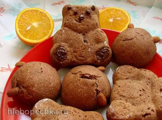 Шоколадно-апельсиновый хлебушек, на миндальном молочке