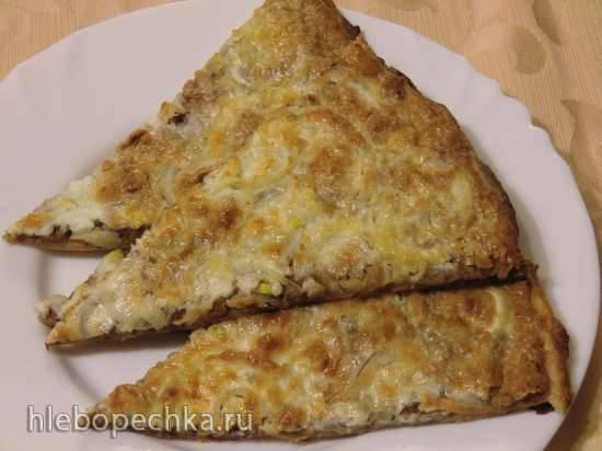 Фасолевая пицца, или Лепешка с фасолью