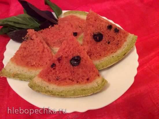 Свекольно-шпинатный хлеб Арбуз