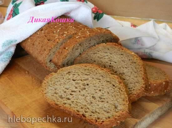 Семейный хлеб с минералкой на старом тесте