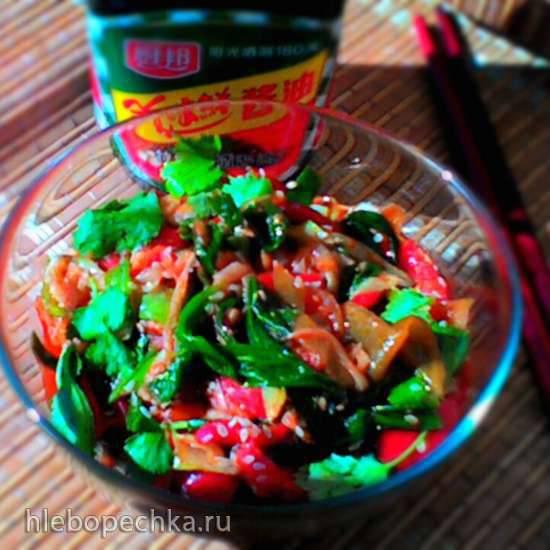 Корейская закуска из зеленого лука