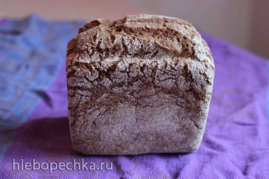 Ржано-пшеничный хлеб на закваске Ржано-пшеничный хлеб на закваске