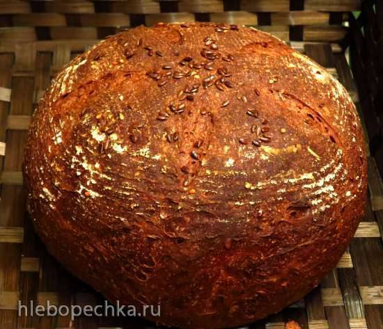 Хлеб на жидких дрожжах Льняной колобок