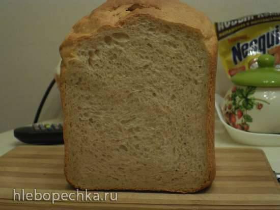 Пшеничный хлеб с цельной мукой на кефире в хлебопечке (Panasonic 2502)