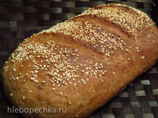 """Заварной ароматный хлеб с цельнозерновой мукой """"Захарий"""""""