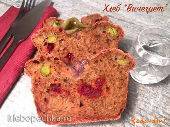 Хлеб Винегрет (ржано-пшеничный на огуречно-картофельном рассоле с овощами и  анчоусами)