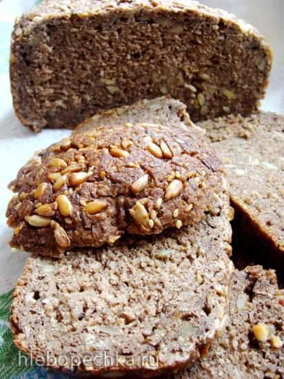 Немецкий плотный зерновой хлеб - Vollkorn Brot на жидких банановых дрожжах