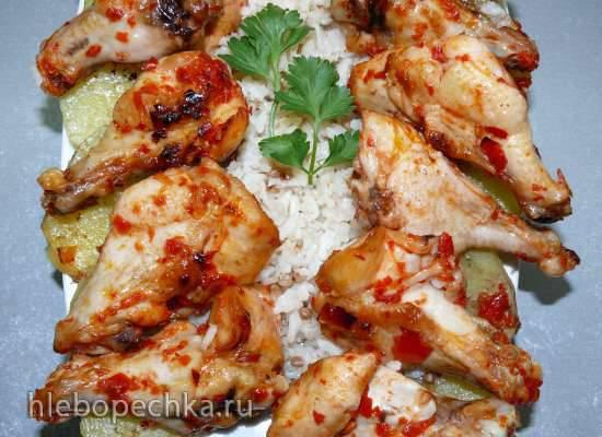 Тавук кебаб (курица с гарниром)