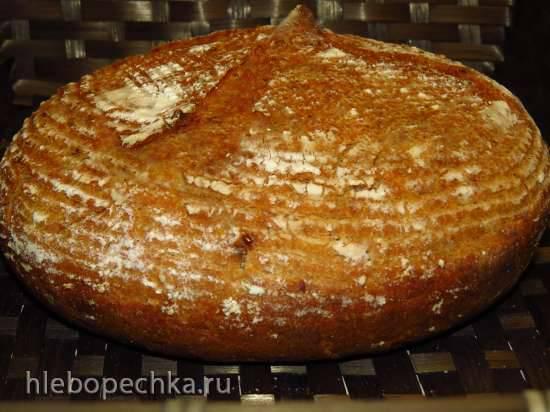 """Заварной луковый хлеб с цельнозерновой мукой на жидких дрожжах """"Чиполлино""""Заварной луковый хлеб с цельнозерновой мукой на жидких дрожжах """"Чиполлино"""""""