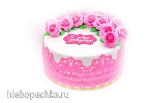 Торт C Днём рождения! в мультиварке МР5010PSD и кухонной машине KM1010HSD