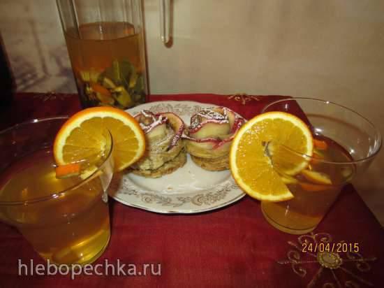Холодный смородино-апельсиновый чай
