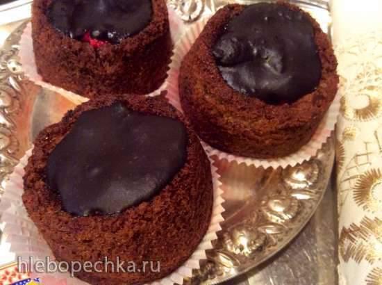 Маффины с малиной Шоколадные шорткейки с малиной