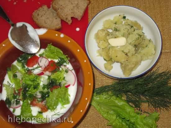 Деревенский летний холодный суп на йогурте (простокваше) Деревенский летний холодный суп на йогурте (простокваше)