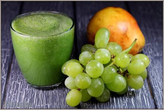 """Зеленый коктейль """"Виноградная груша"""""""