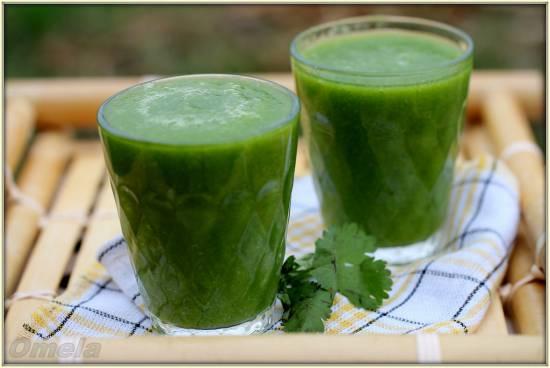 Зеленый коктейль Прикольная кинза (В.Бутенко)