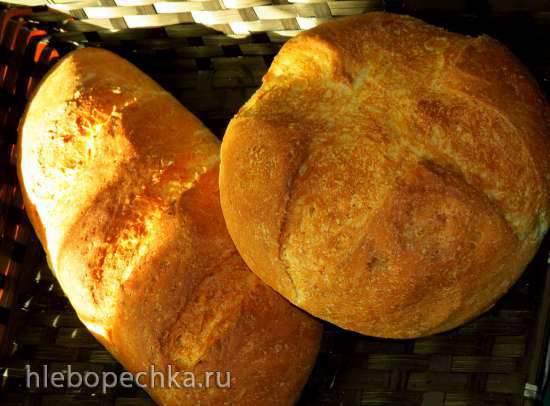 Хлеб на овсяной заварке и старом тесте