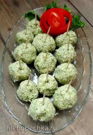 Холодные шарики брокколи
