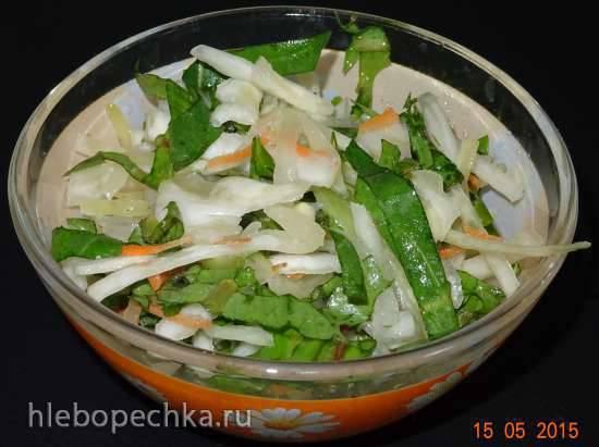 Салат овощной с авокадо и моцареллой
