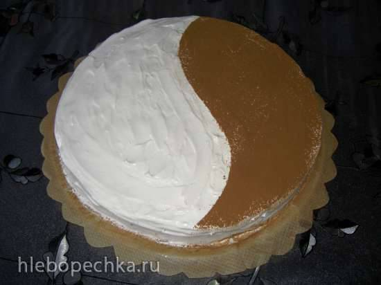 Торт День и Ночь с мармеладом и печеньем