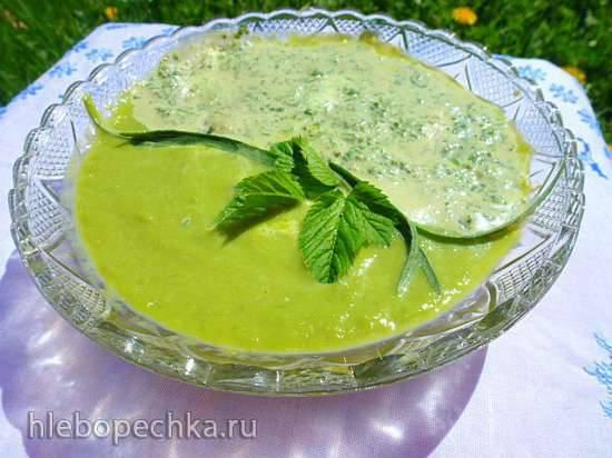 Крем-салат из спаржи и огородной зелени Крем-салат из спаржи и огородной зелени