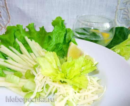Салат из сельдерея, капусты и яблок Парижский салат с сельдереем