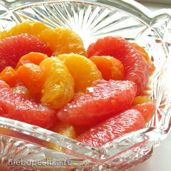 Фруктовый цитрусовый салат с кардамоном