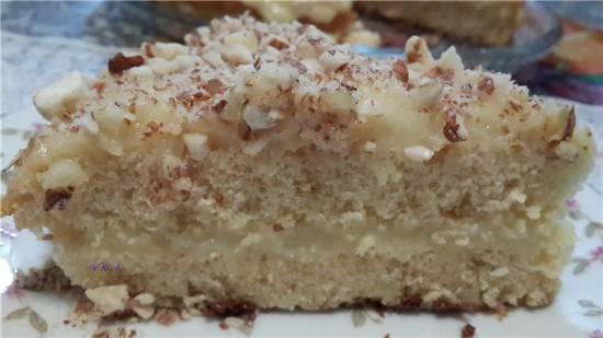 Быстрый пирог из сгущённого молока с классическим кремом патисьер.
