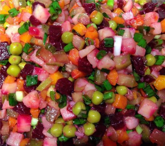 Винегрет овощной (рецепт для предприятий общественного питания, 1968 год)