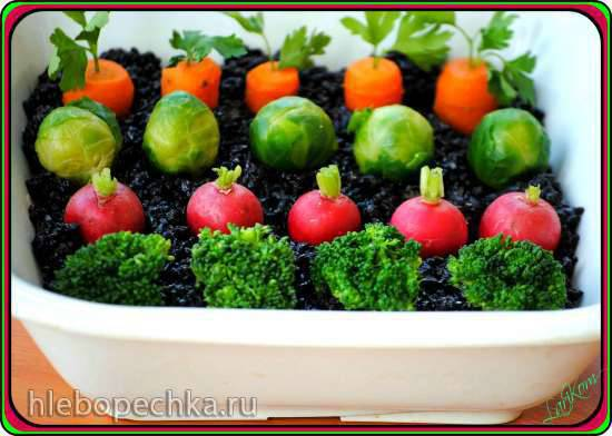 Салат с ледяными грибами Грядка