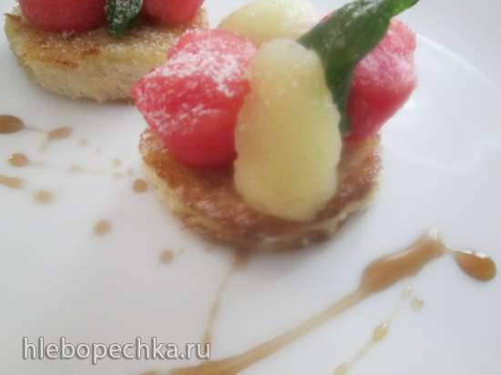 Французский тост с арбузом и дыней