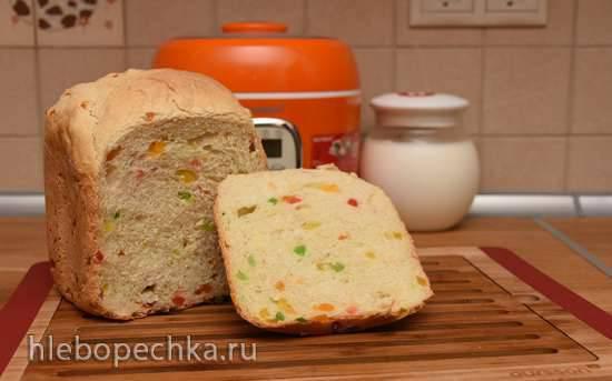 Oursson BM0800J. Йогуртовый хлеб с цукатами в хлебопечке