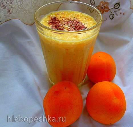 Ласси из желтых помидоров  с абрикосом и сумахом