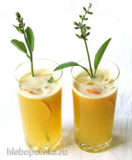 Лимонад из желтых томатов и физалиса