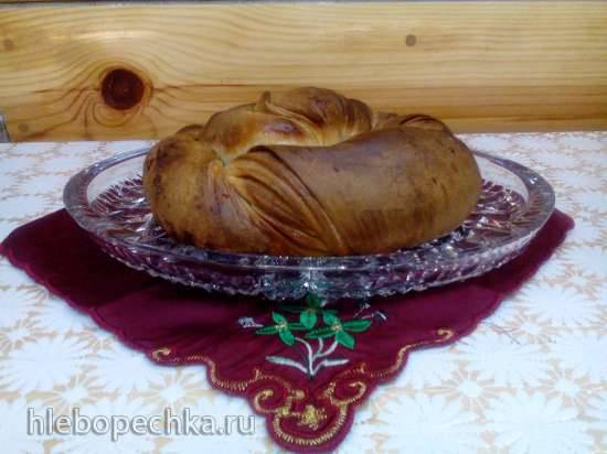 Сладкий слоеный кабардинский хлеб