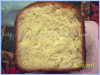 Сладкий кокосовый хлеб  (хлебопечка)