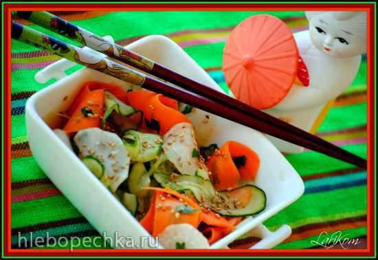 Азиатский салат с дайконом