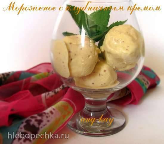 Мороженое с клубничным кремом (миксер)