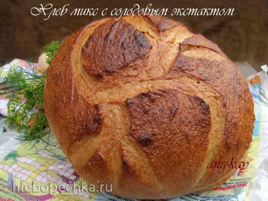 Хлеб микс с солодовым экстрактом