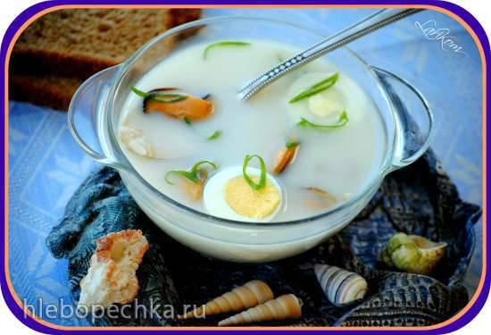 Холодный суп с мидиями