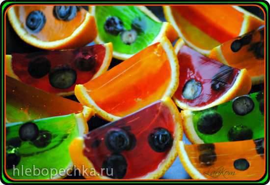 Желе Апельсиновые дольки