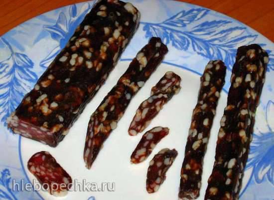Колбаска сыро-вяленая натуральная