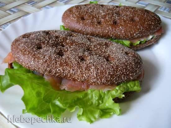 Сэндвич с форелью и яичной пастой