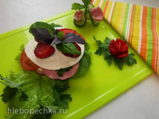 Овощной мильфёй с сыром Творожный ломтик с прованскими травами и мясным хлебом - творим, что хотим!
