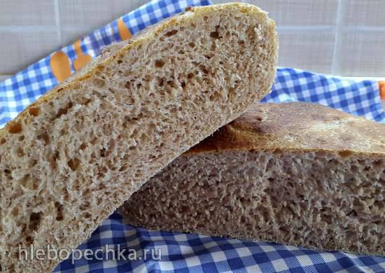 Хлеб на сыворотке и отрубях (холодная ферментация)