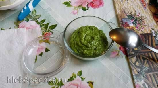 Соус Песто классический, адаптированный к российским продуктам в блендере