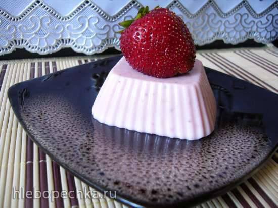 Творожно-шоколадный мусс с клубникой