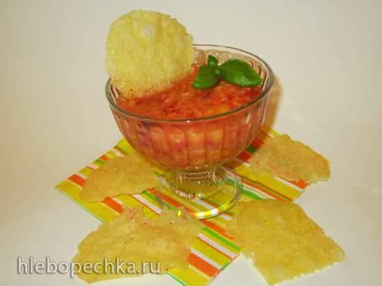 Фруктовый соус с сырными чипсами
