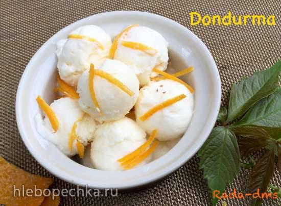 Дондурма медово-апельсиновая (турецкое мороженое)
