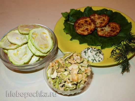 Сушеные кабачки (восстанавливаем и жарим)
