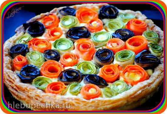 """Овощной пирог """"Цветочная поляна"""""""